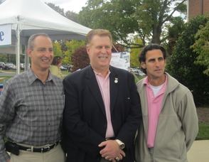Dr. Rob Brenner, Mayor Joseph Bruno and Chairman of the Board Jeffrey Le Benger