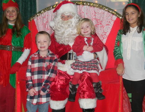 Michael and Allison Nelson with Santa