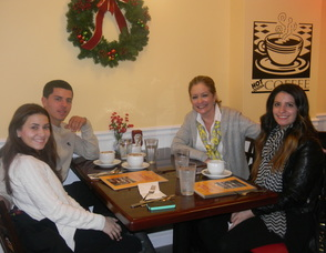 Families at Yogoccino for the grand re-opening