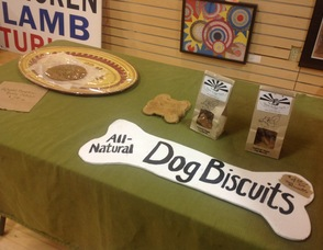 Apple Ridge Farm makes healthy dog biscuits, and other baked goods.