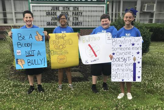 Grant Promotes Anti-Bullying Initiative With School Wide Walk  cf5bd7947