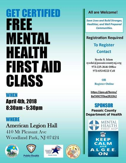 Passaic County Offers Free Mental Health First Aid Training Tapinto