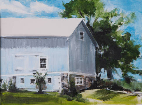 Top story a99684ab37b8076588f8 blue barn  king st.  acrylic on canvas  by allene stanton fay